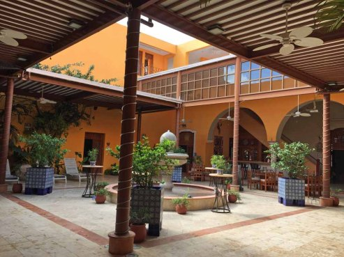 The center courtyard of the house