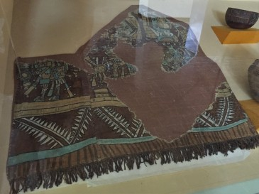 This burial cloth, preserved in a cave, is about 800 years old.