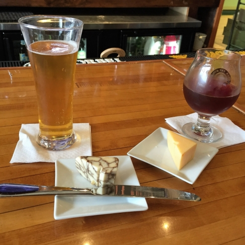 Buy a beer, add a wedge of cheese. It was Laura's favorite thing in Milwaukee!